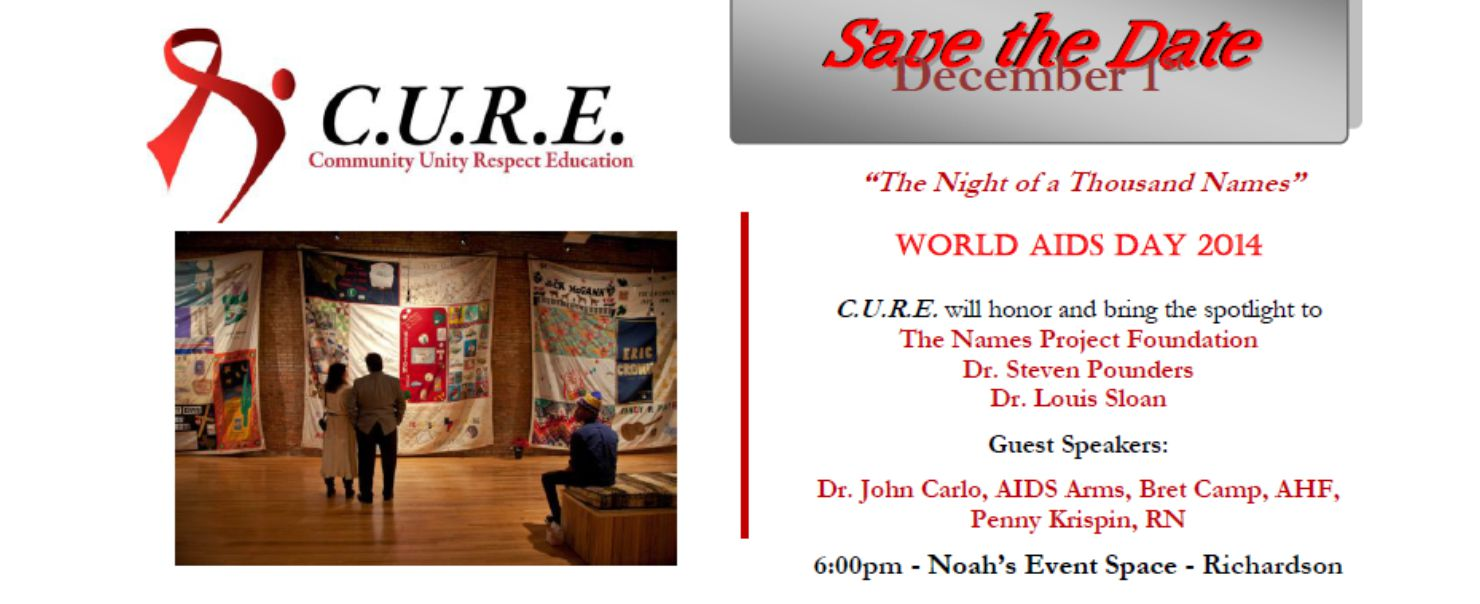 World AIDS Day 2014 Richardson – sponsored by C.U.R.E.