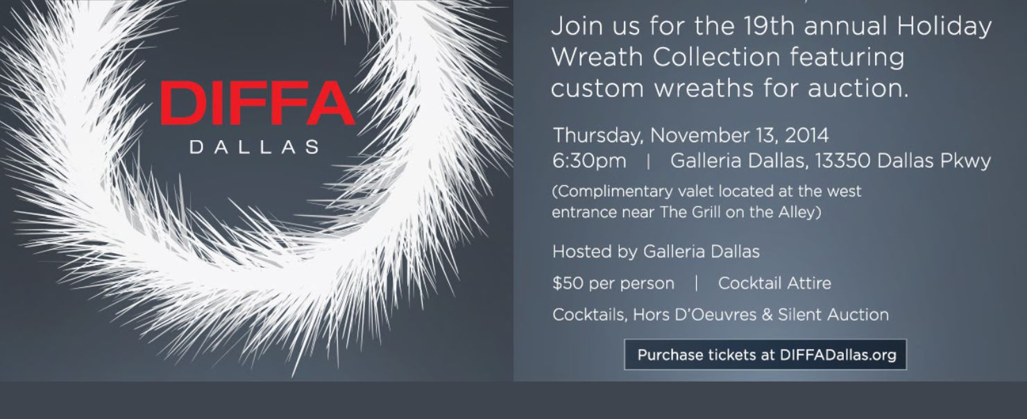 DIFFA Dallas Holiday Wreath Collection