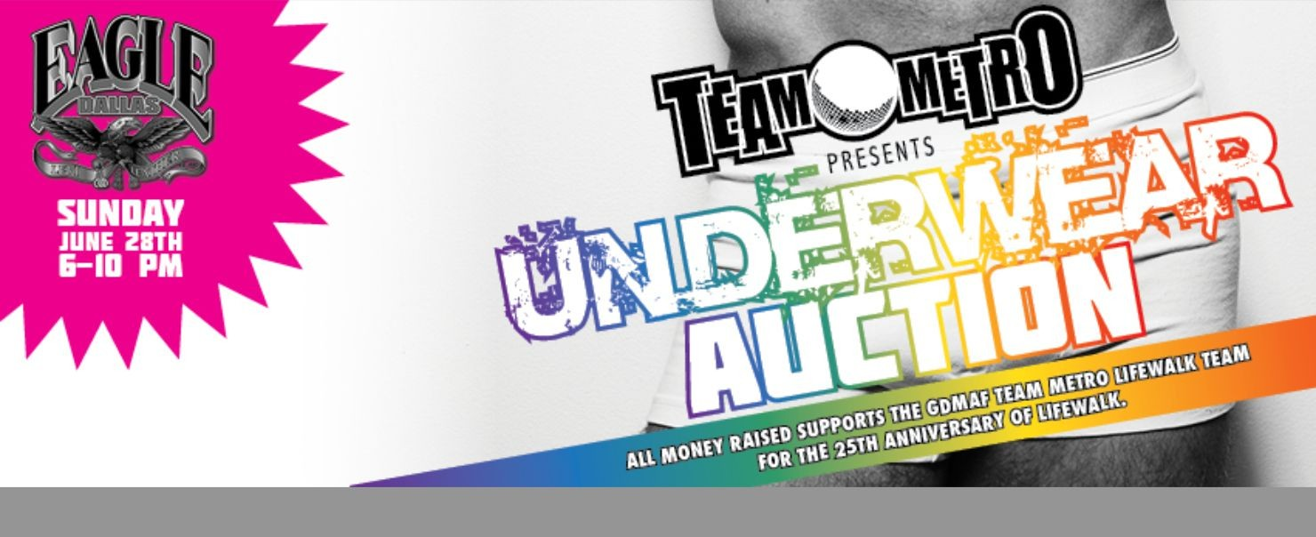 Underwear Auction benefiting Team Metro LifeWalk