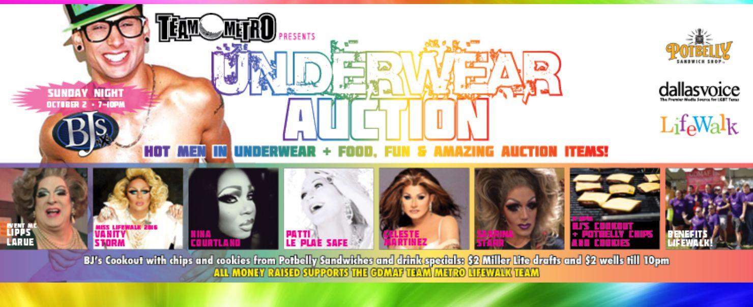 Team Metro Underwear Auction