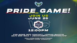 Dallas Wings Pride Game @ College Park Center at UT Arlington