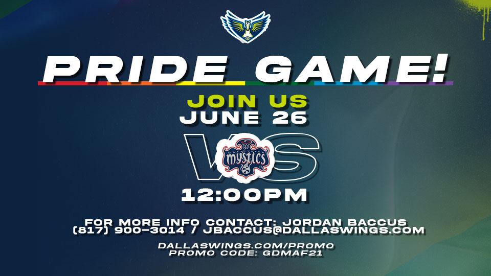 Dallas Wings Pride Game
